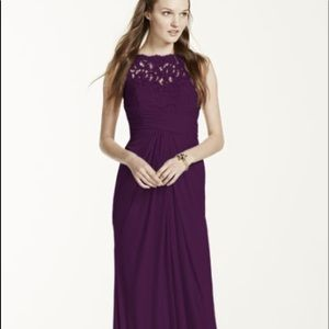 NWT Plum Dress with lace and chiffon